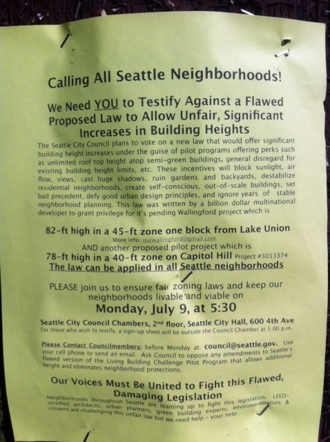 Here we go again? Flier on Capitol HIll.